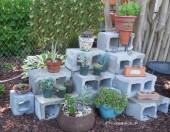 DIY Cement Blocks planter