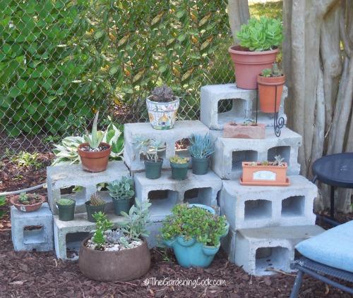 Cement blocks front