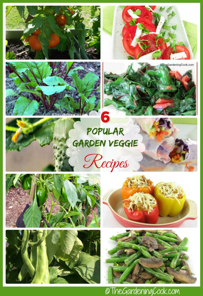 These are 6 vegetable that most gardeners grow, and these are my favorite recipes for cooking them. #ad #GilmourGardens #GilmourGardening