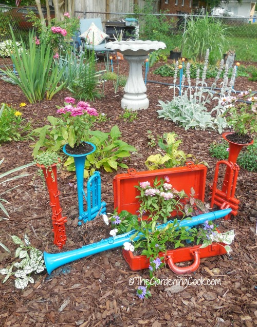 Musical planters add a touch of whimsy to my garden bed