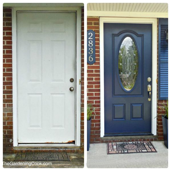 Door before and after.