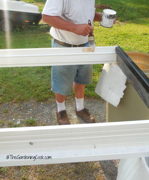Painting the door trim