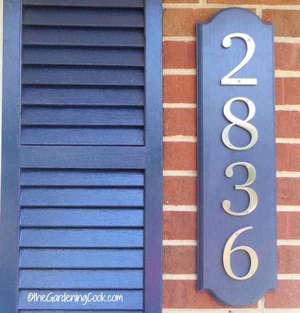 DIY House number signboard