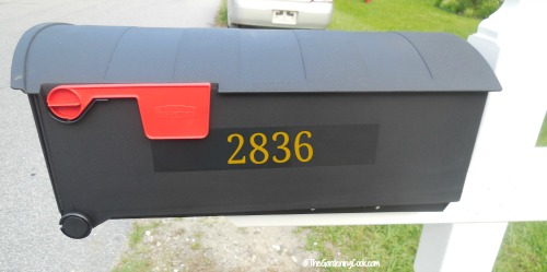 Mail box numbers