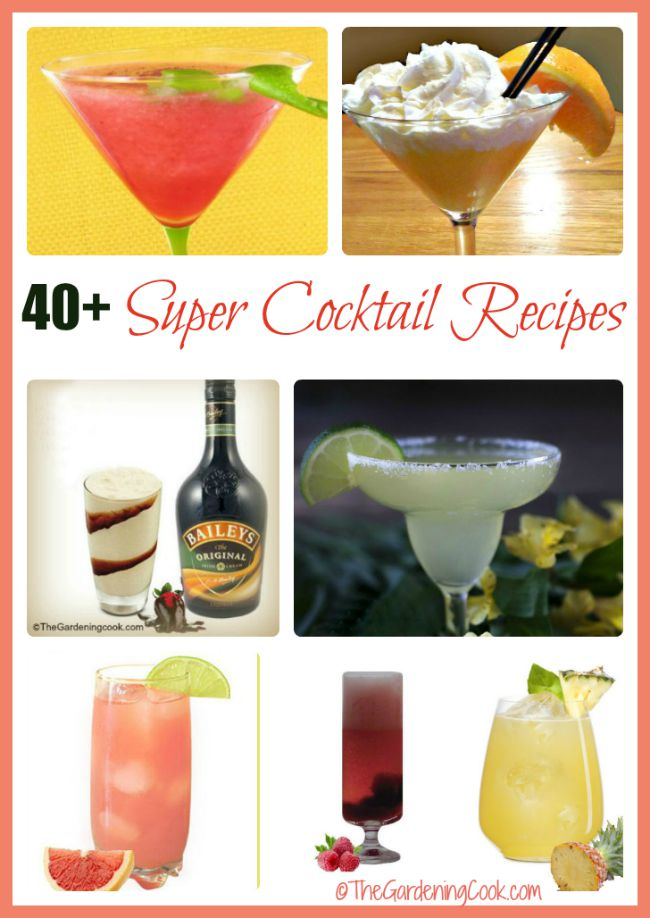 It's Happy Hour! Imresss your friends with one of these delicious cocktail recioeps.
