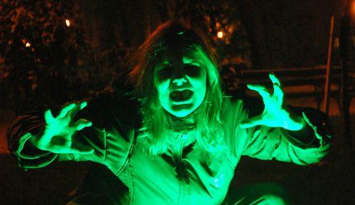 neon light sets a really scary mood