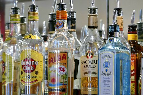 Start small with a collection of alcohol for a home bar
