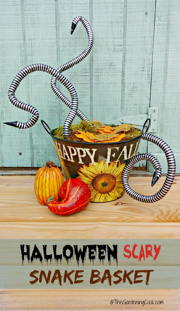 Spooky Halloween Snake Basket Porch Decoration