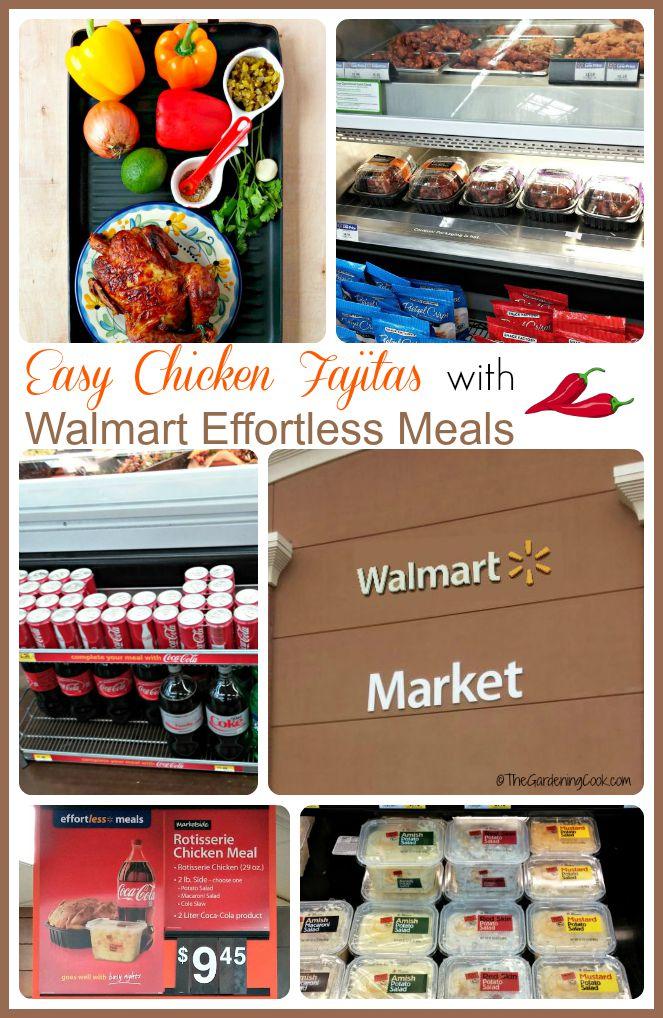Easy Chicken Fajitas with Walmart Effortless Meals