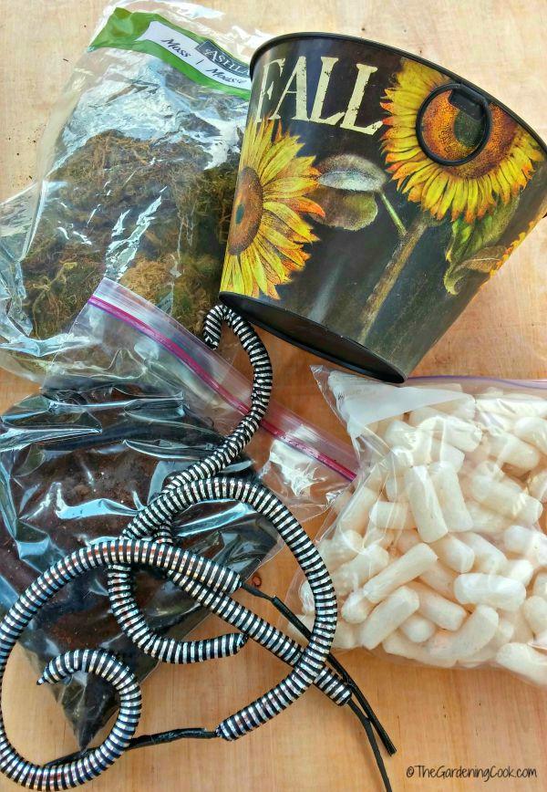 supplies for snake basket