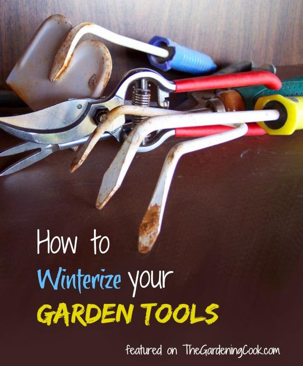 Winterize your garden tools