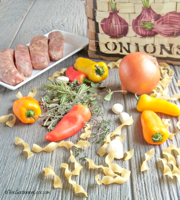 ingredients for Italian sausage casserole