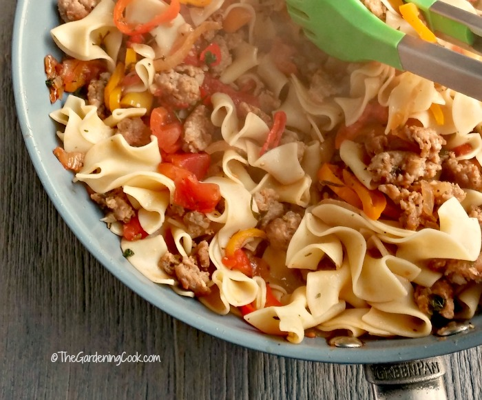 Italian casserole with drunken noodles