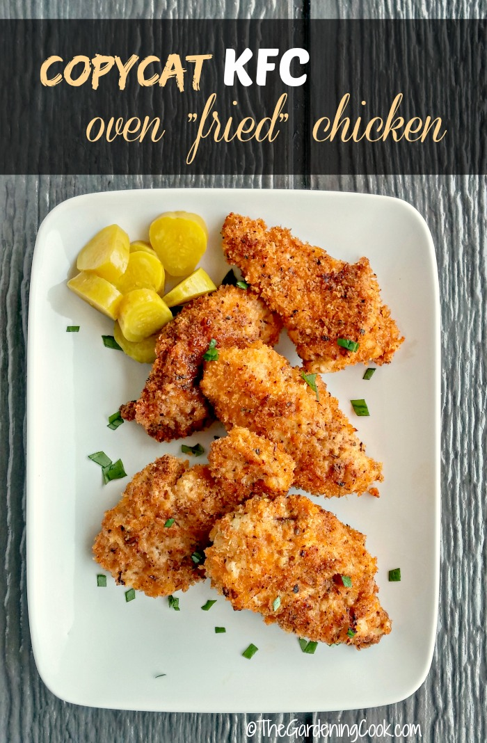 This copycat KFC oven fried chicken recipe has a super spice mix to ...