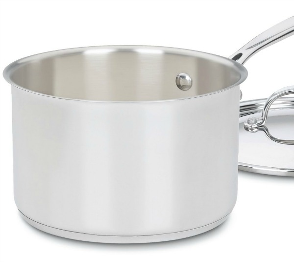 A heavy saucepan with tall sides is best for making fudge.