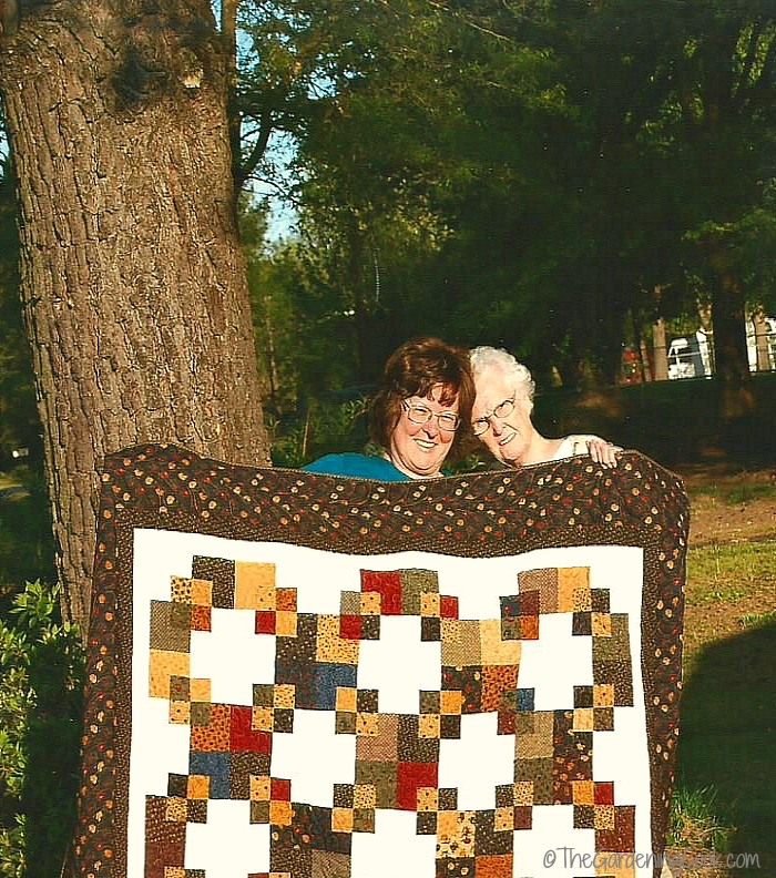 The quilt my mother made me for my 60th birthday.