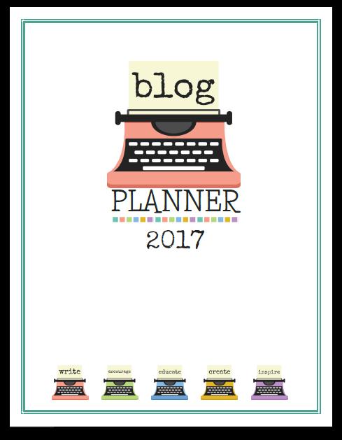 2017 Blog Planner