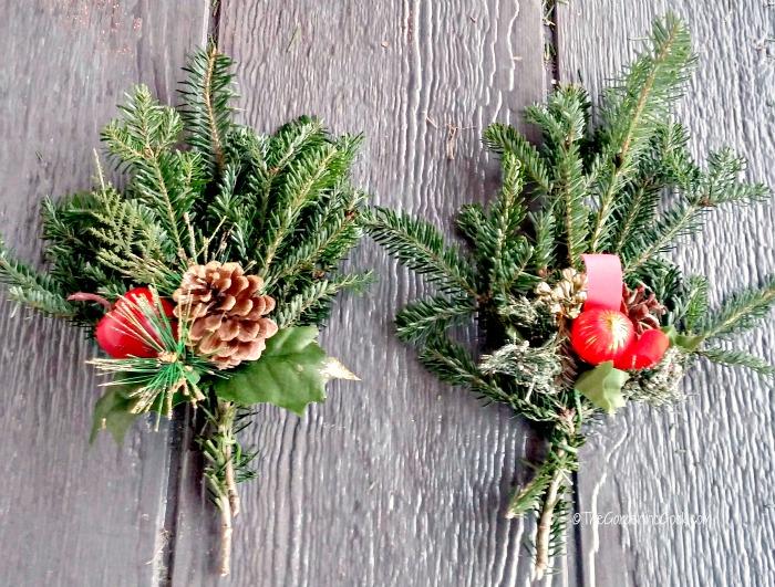 fir boughs and Christmas sprays