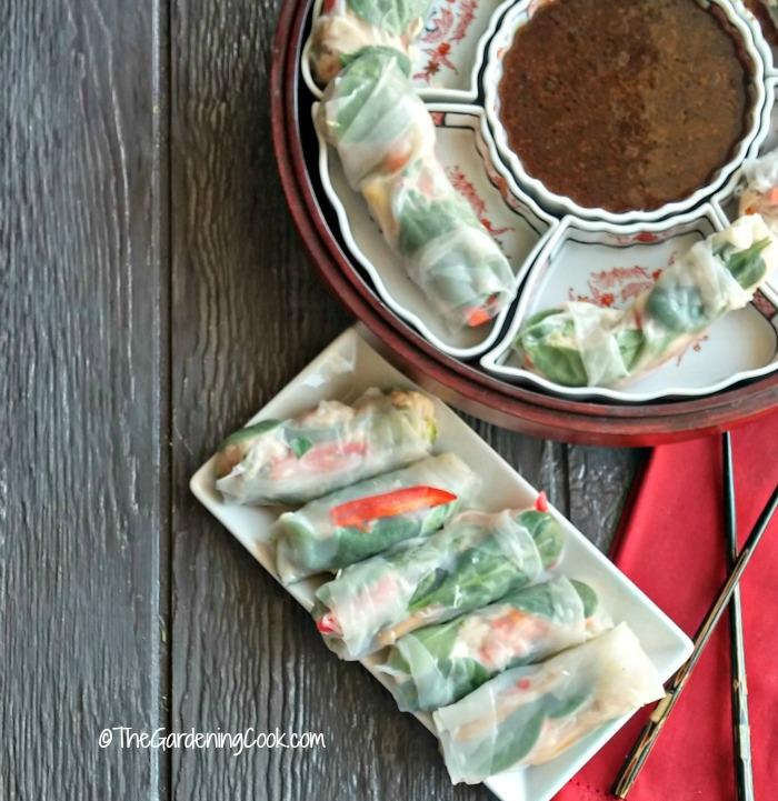 Albacore tuna rice paper spring rolls