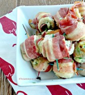 Spicy bacon wrapped chicken appetizer