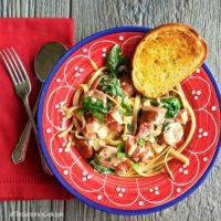 spinach sausage fettuccine recipe