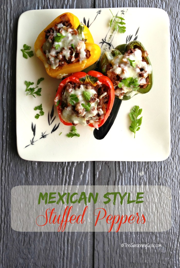 These Mexican style stuffed peppers have the most amazing flavor. You can make them as spicy or as savory as you like! thegardeningcook.com #TexasPete #SaborbyTexasPete #ad