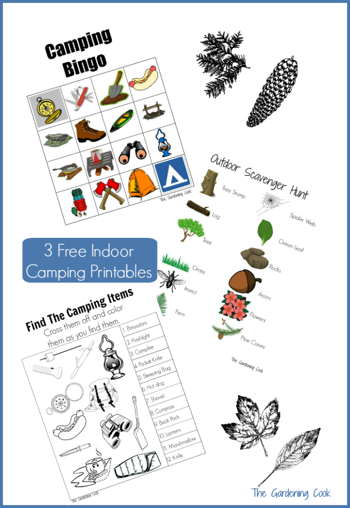 Are you planning on having an indoor camping party? These three free printables are perfect for bringing the outdoors inside! thegardeningcook.com