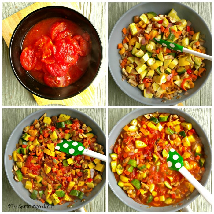 Making the marinara sauce