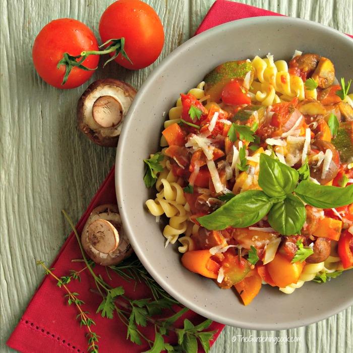 Roasted Tomato Vegetable Marinara Sauce with Pasta