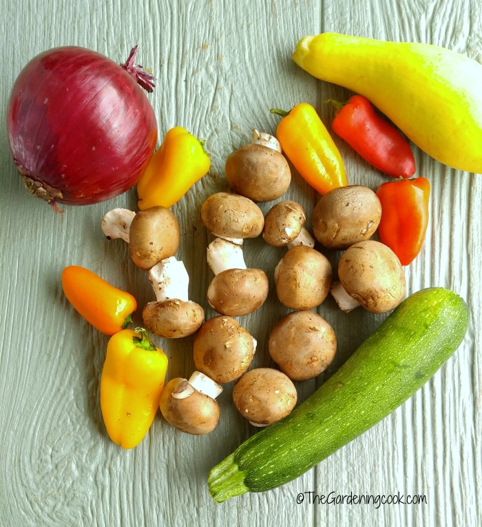 Ingredients for Roasted Tomato Vegetable Marinara Sauce with Pasta