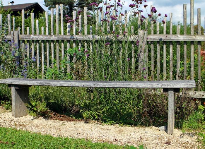 Plank garden bench