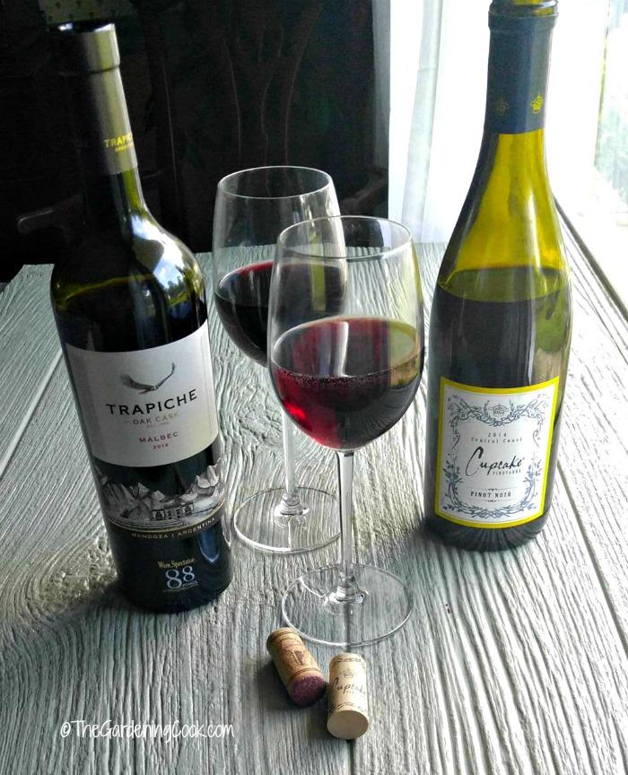 Cupcake and Trapiche wines