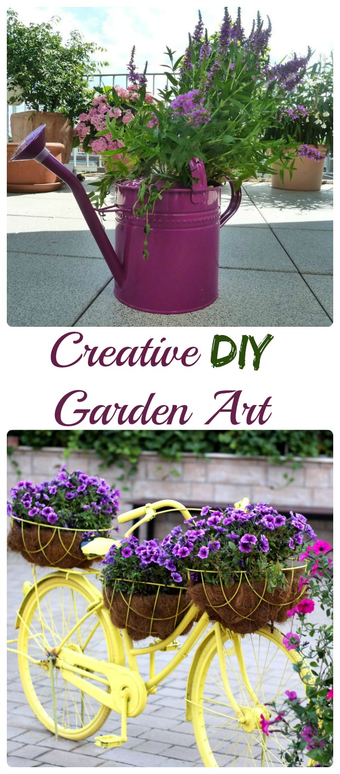 Garden Art can be very expensive at a garden center. But with a bit of creativity and a few common recycled household items, you can turn trash to treasure in no time. thegardeningcook.com