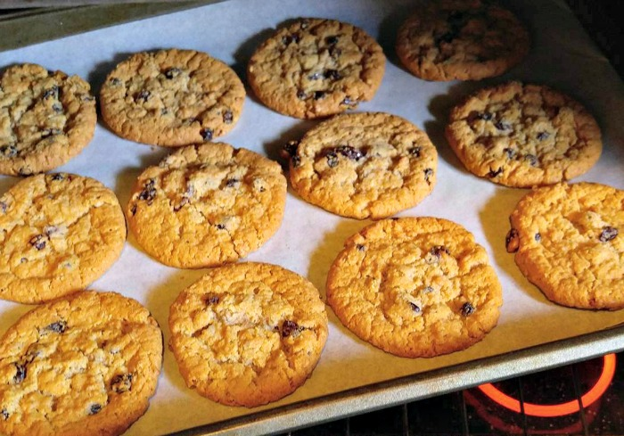 Using Parchment paper keeps your baking sheets looking new.