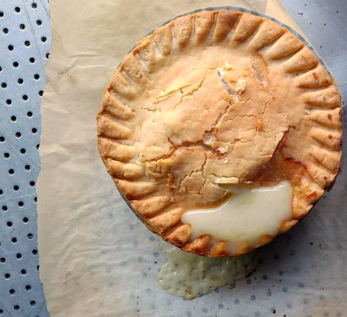 place parchment paper under baked pies to make clean up easier.