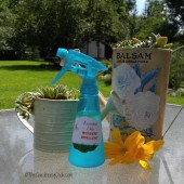 This DIY essential oil mosquito repellent works wonders on bugs on the patio.