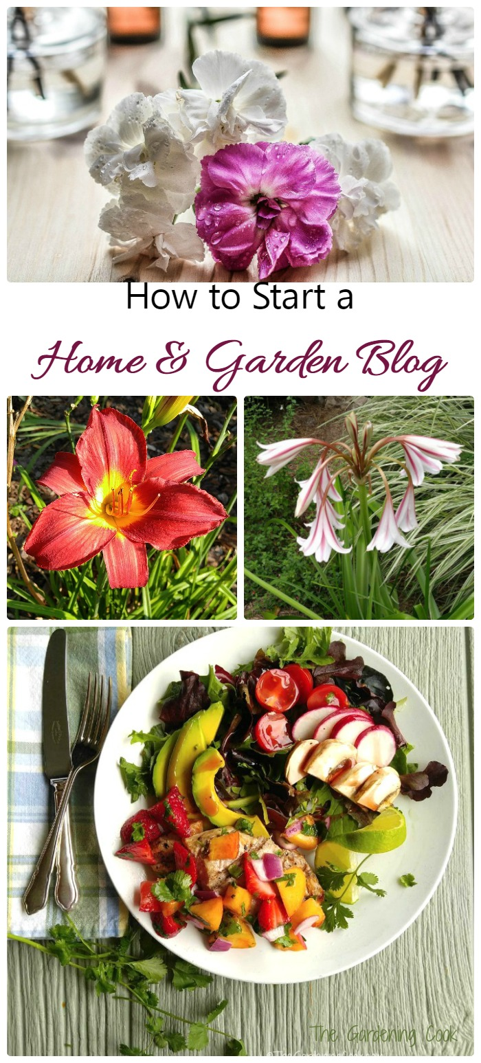 Have you always thought of doing your own home and garden blog but think is it too difficult? Think again. It's a lot easier than you might imagine. See my tips on thegardeningcook.com