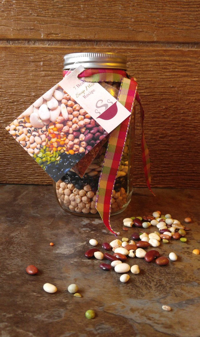This easy 7 bean soup mix project makes a great hostess or housewarming gift