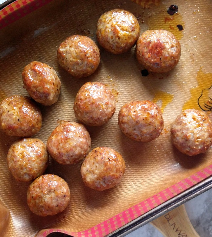 Bake the meatballs in the oven