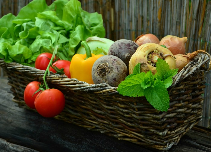 Fresh basket of vegetables