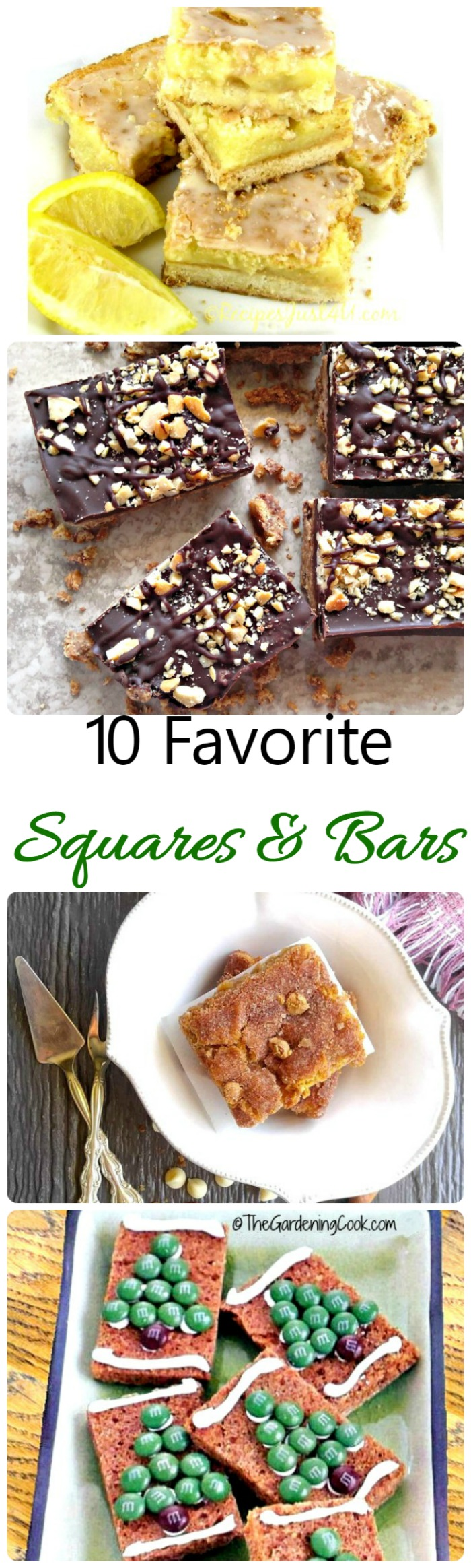10 of my favorite bars recipes. From date bars to lemon bars and every thing in between!