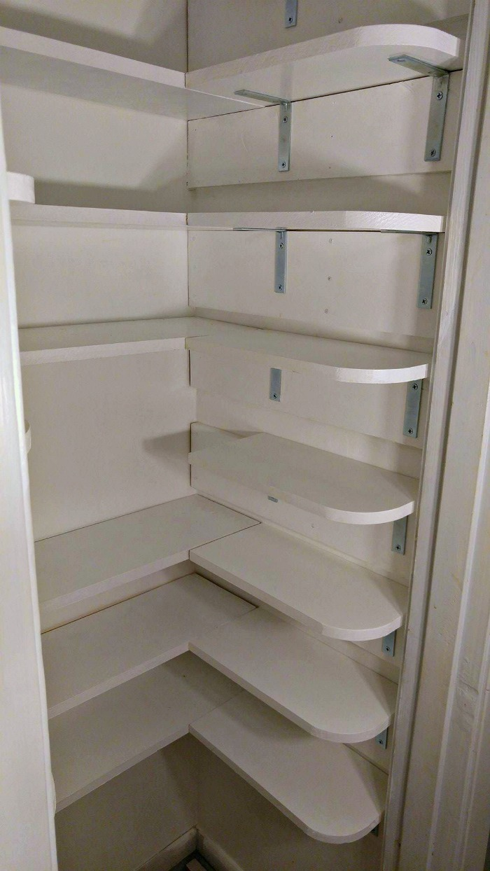 Right size pantry wall