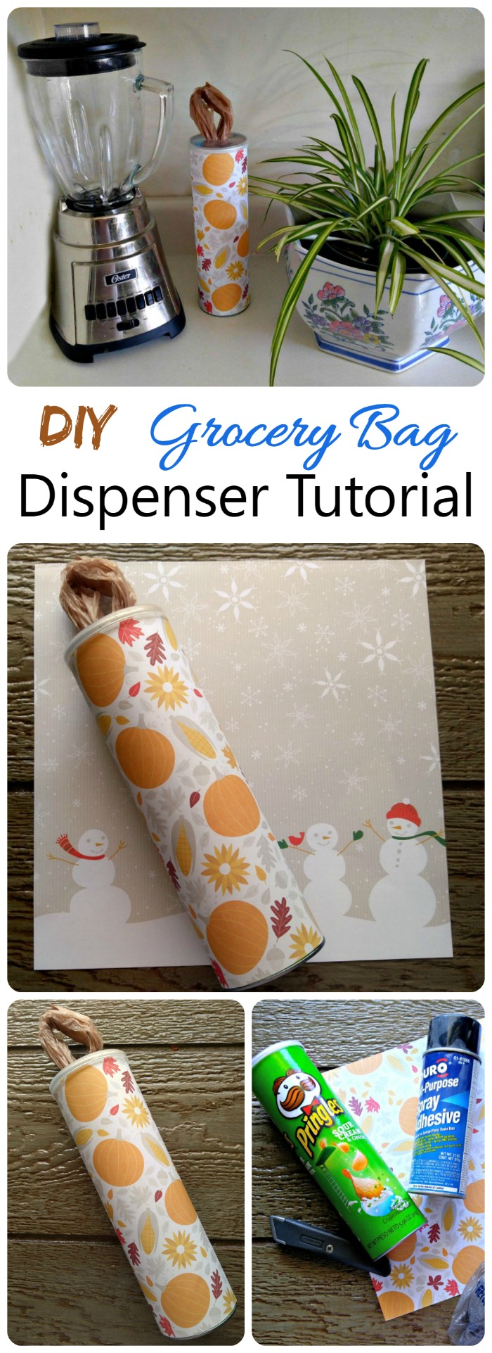 This Grocery Bag Dispenser is super easy to make and has a seasonal fall look to it. Keep all your grocery bags ready to use with this DIY project.