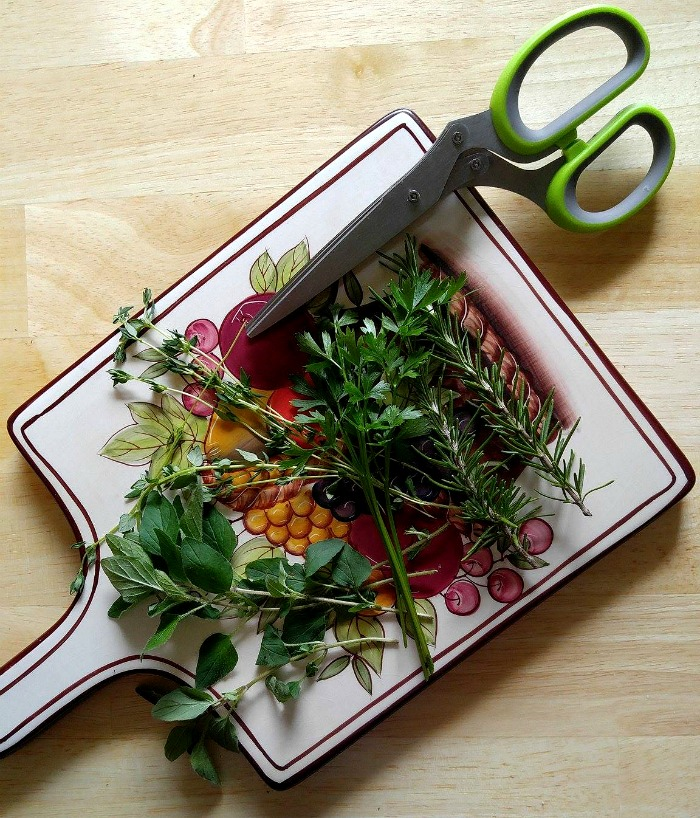 Fresh herbs add lots of flavor to my roasted root vegetable medley