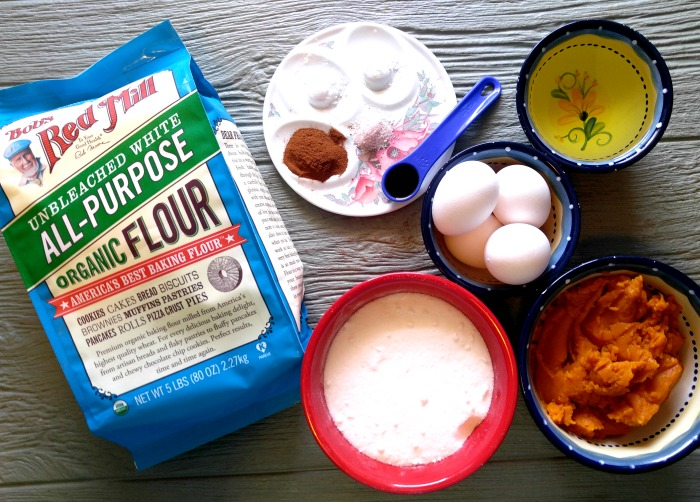 Ingredients for Pumpkin Cake with Toasted Coconut Frosting