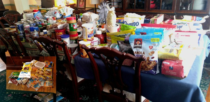Pantry supplies ended up on my dining room table