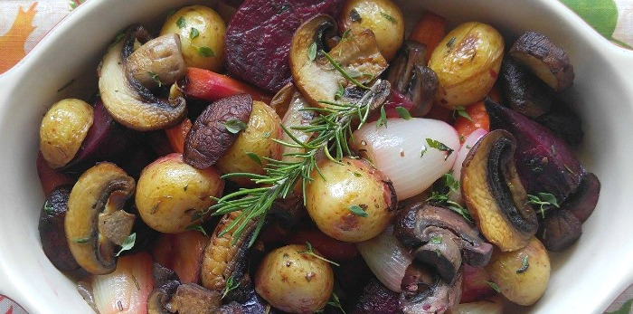 Look what goes into this roasted root vegetable medley