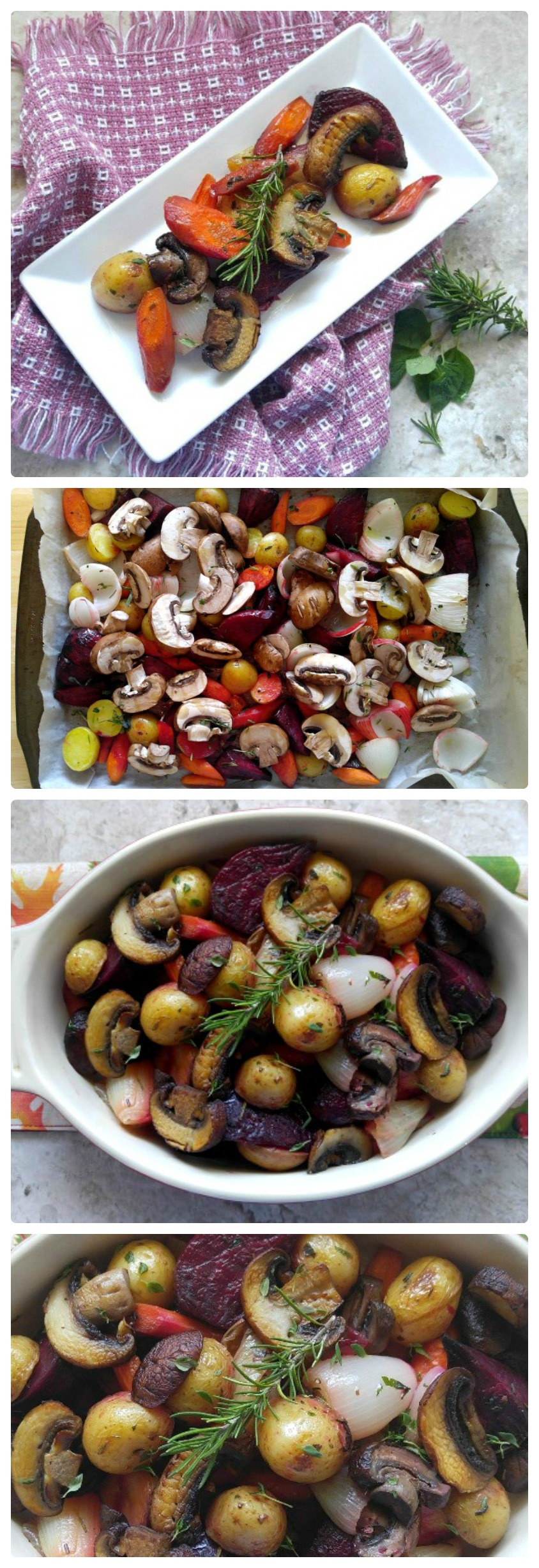 This Roasted root vegetable medley is a perfect fall side dish. Why not serve it for Thanskgiving?