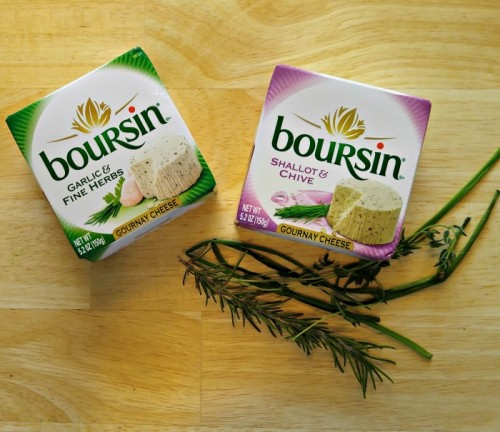 Boursin Cheese makes a great crostini appetizer.