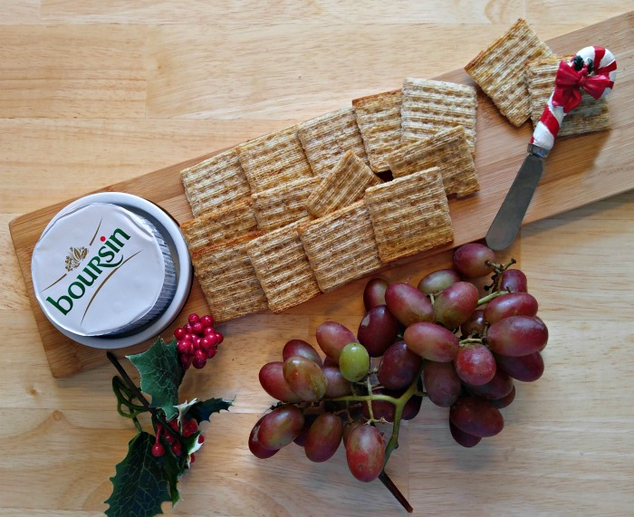 Boursin Cheese and crackers.